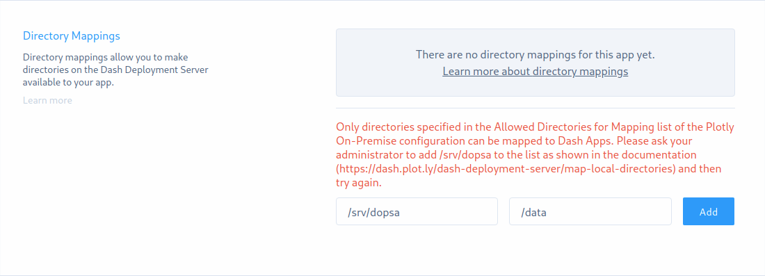 Add Directory Mapping