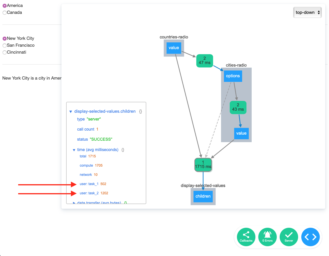 The Dash Dev Tools Callback Graph Reporting Custom Timing Events